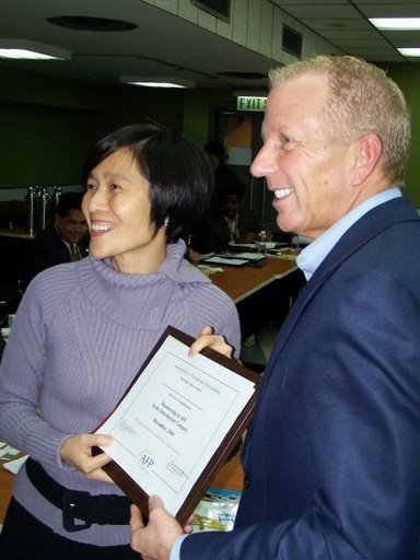 Tim Burcham, CFRE and Christine Fang Executive Director HKCSS