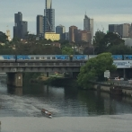 Yarra River, Metro train to CBD and Skyline