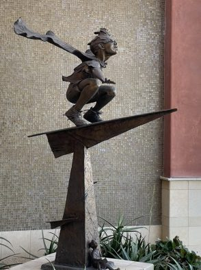 Statue in courtyard